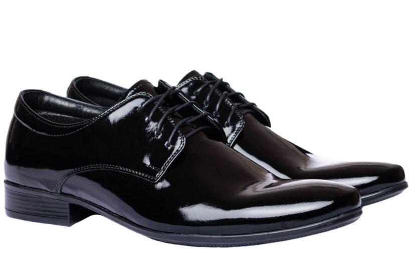 Fekete Alkalmi Bőr Lakkcipő