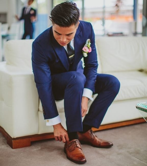 feffdb8190 Kék öltöny barna cipővel? Szerinted jó választás? - Elite Fashion ...