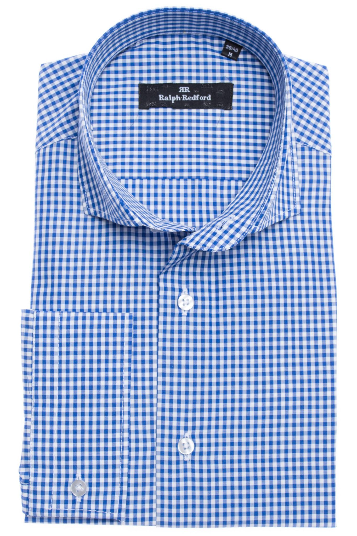 00dbd36000 Ralph Redford Kék Kockás Ing - Elite Fashion Öltönyház