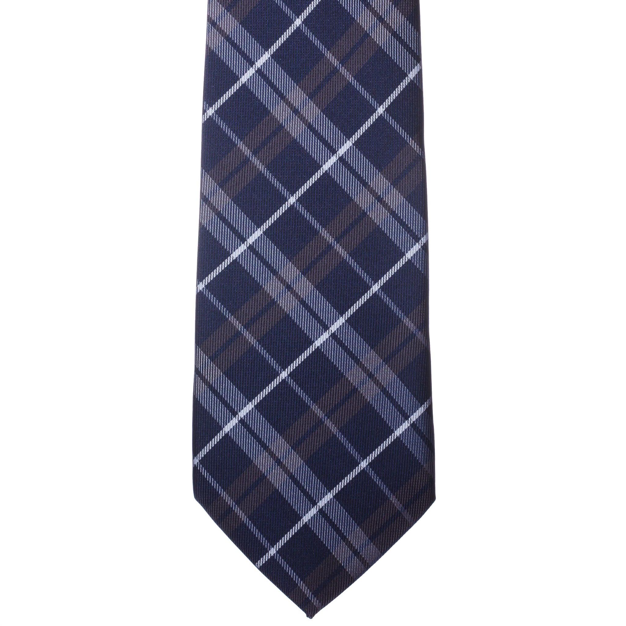 Kék fehér-sárga kockás nyakkendő
