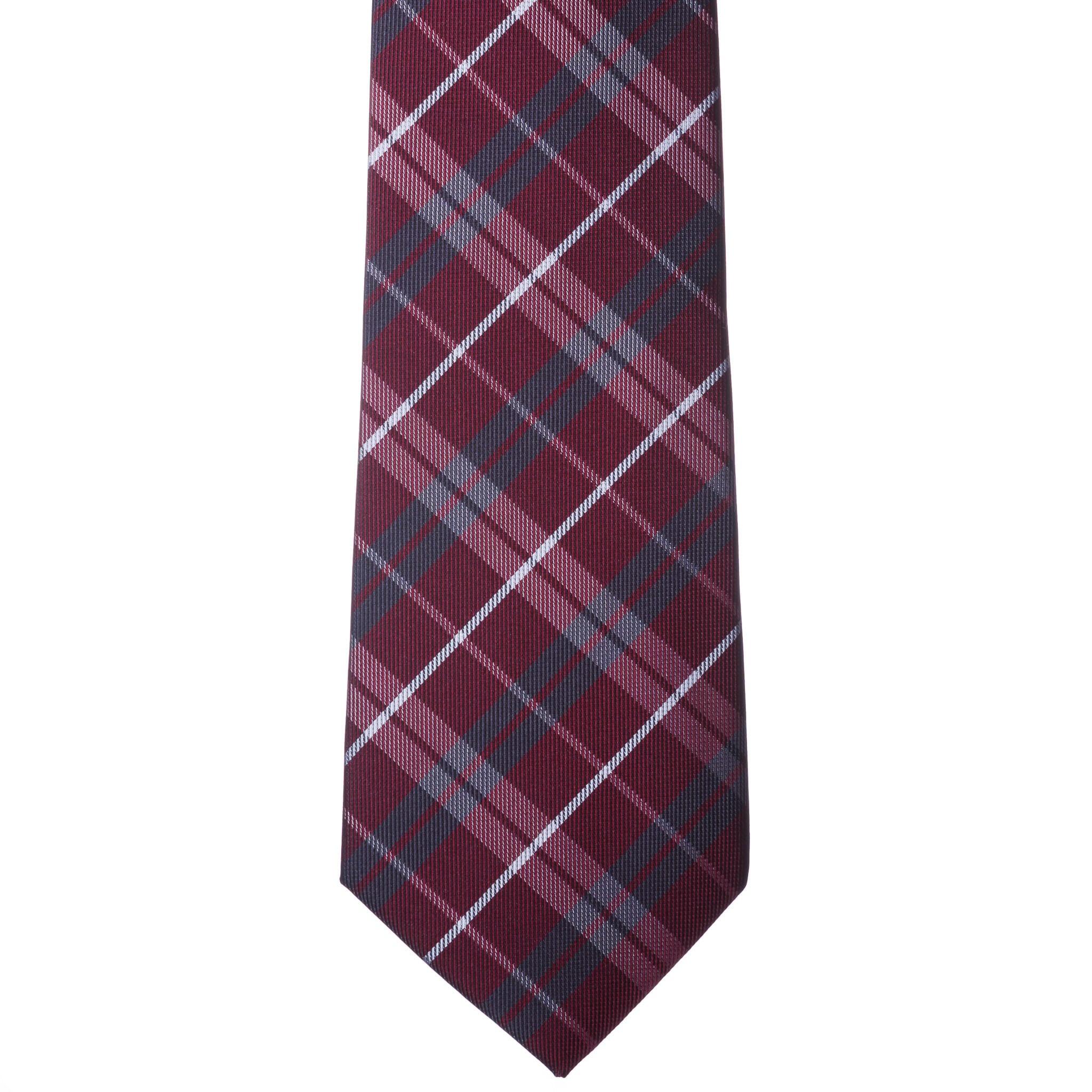 0ebbadb82d Bordó szürke-fehér kockás nyakkendő - Elite Fashion Öltönyház