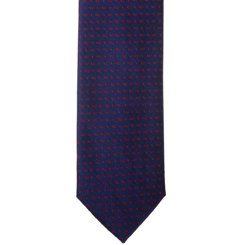 Kék piros mintás nyakkendő