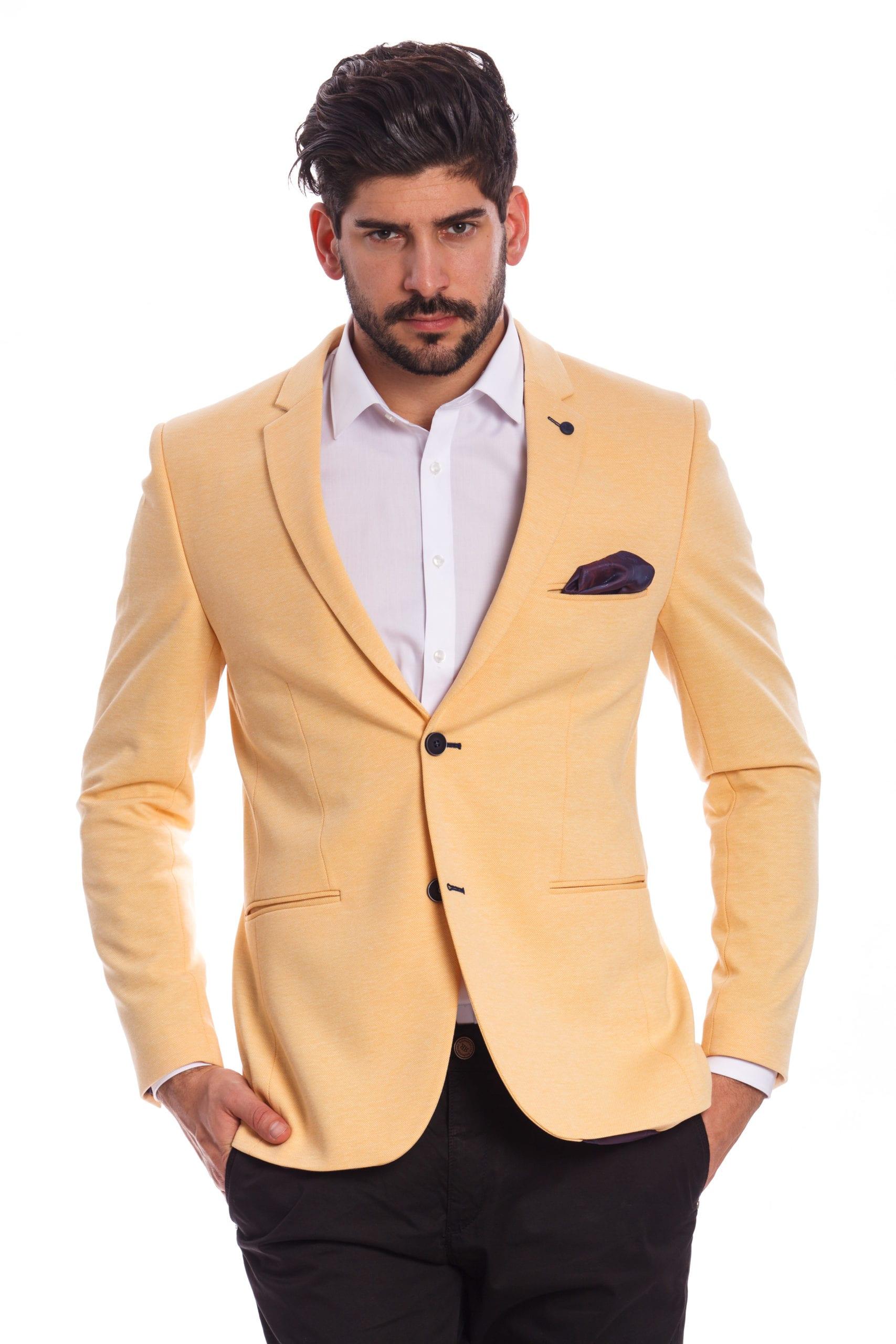ee8e322823 Bozen Napsárga Slim Fit Sportzakó - Elite Fashion Öltönyház