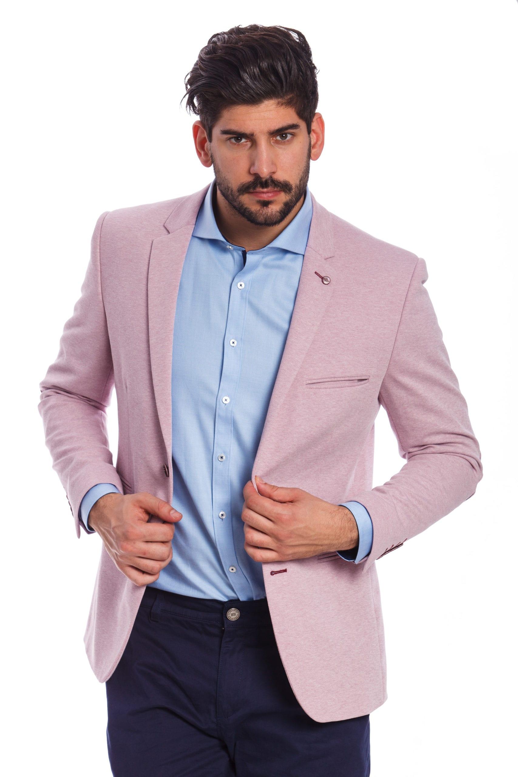 8e0b2080fe Brindisi Rózsaszín Slim Fit Sportzakó - Elite Fashion Öltönyház