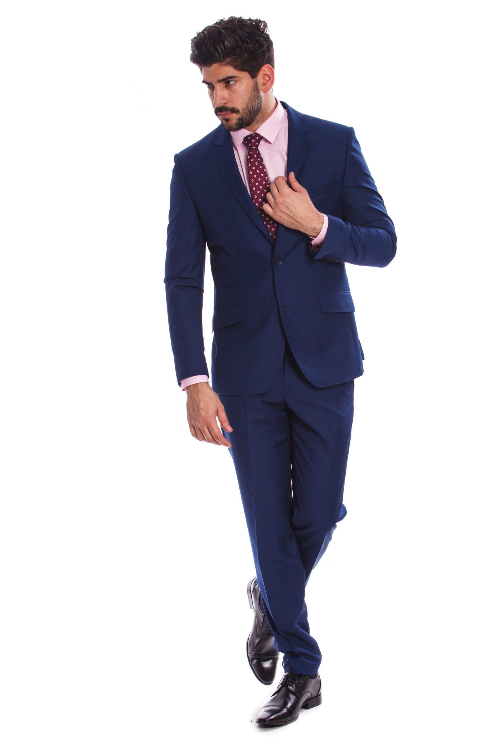 a26f3bd865 Ferrara Kék Slim Fit Öltönyzakó - Elite Fashion Öltönyház