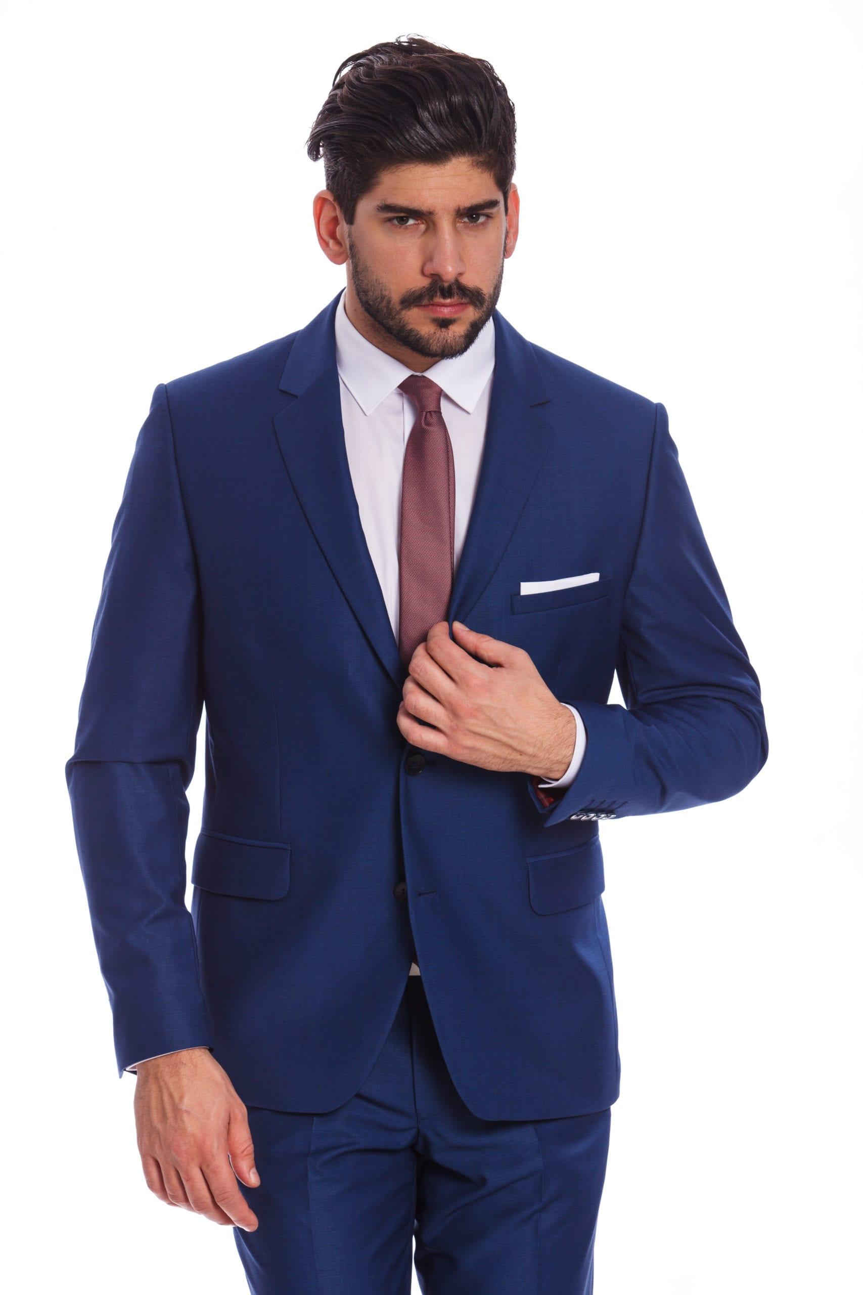 8a744b991c Palermo Kék Slim Fit Öltönyzakó - Elite Fashion Öltönyház