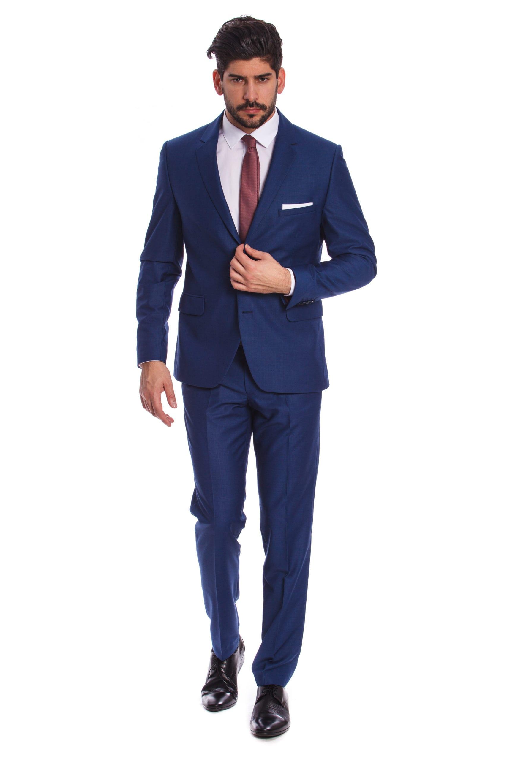 90e1341998 Palermo Kék Slim Fit Öltöny - Elite Fashion Öltönyház