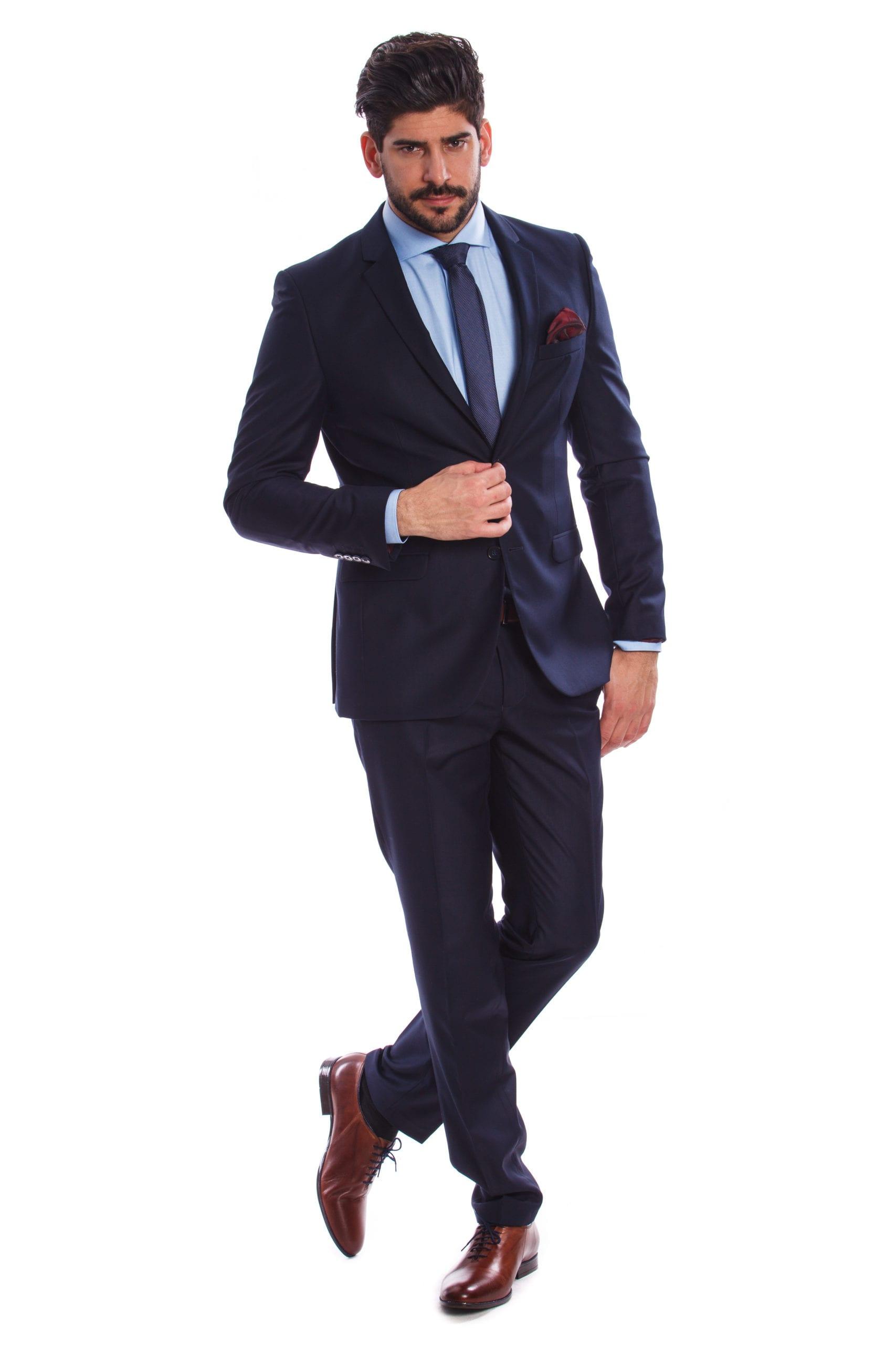 3428cb92c9 Imola Sötétkék Slim Fit Öltönyzakó - Elite Fashion Öltönyház