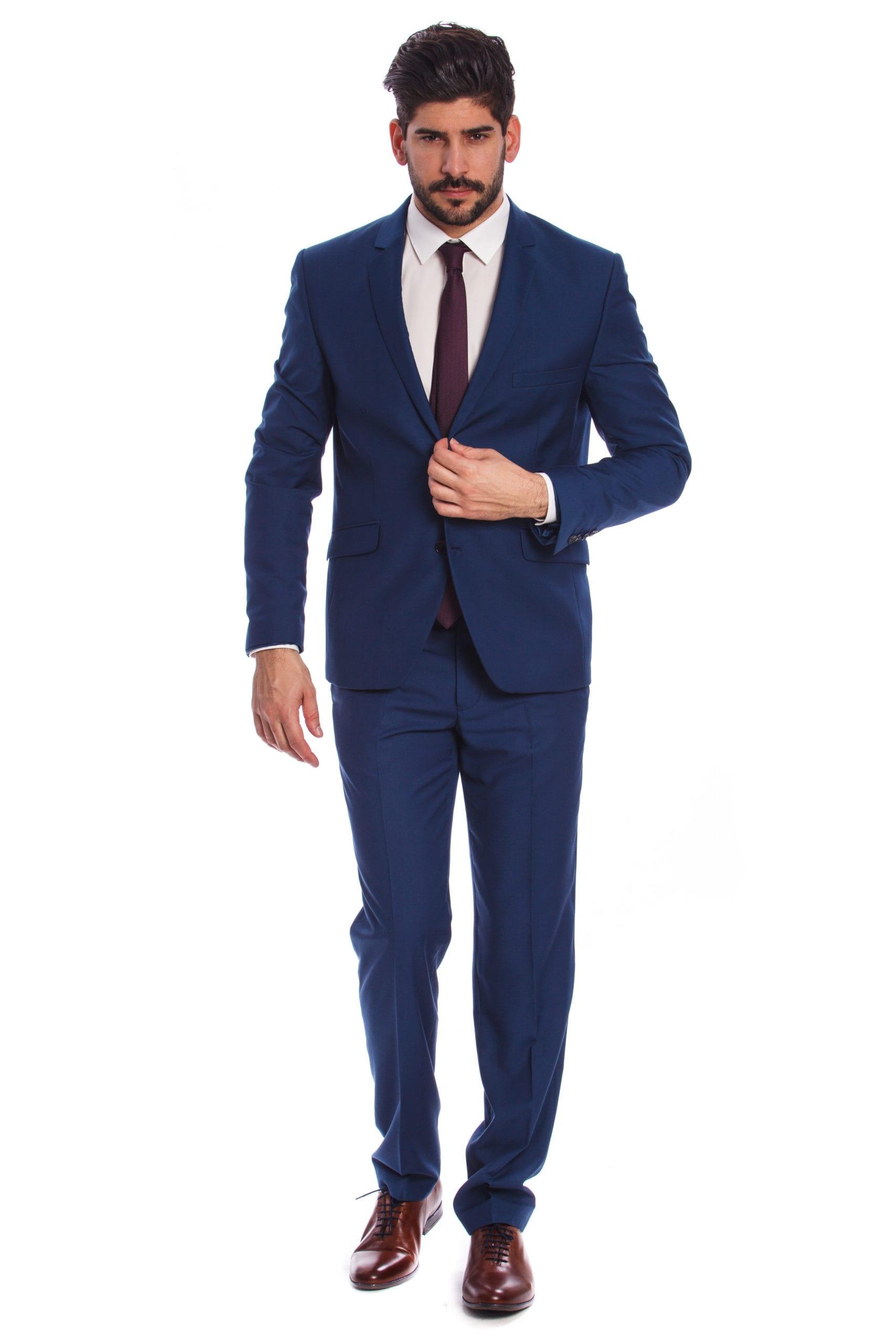 ca74b4d60b Nápoly Világoskék Slim Fit Öltöny - Elite Fashion Öltönyház