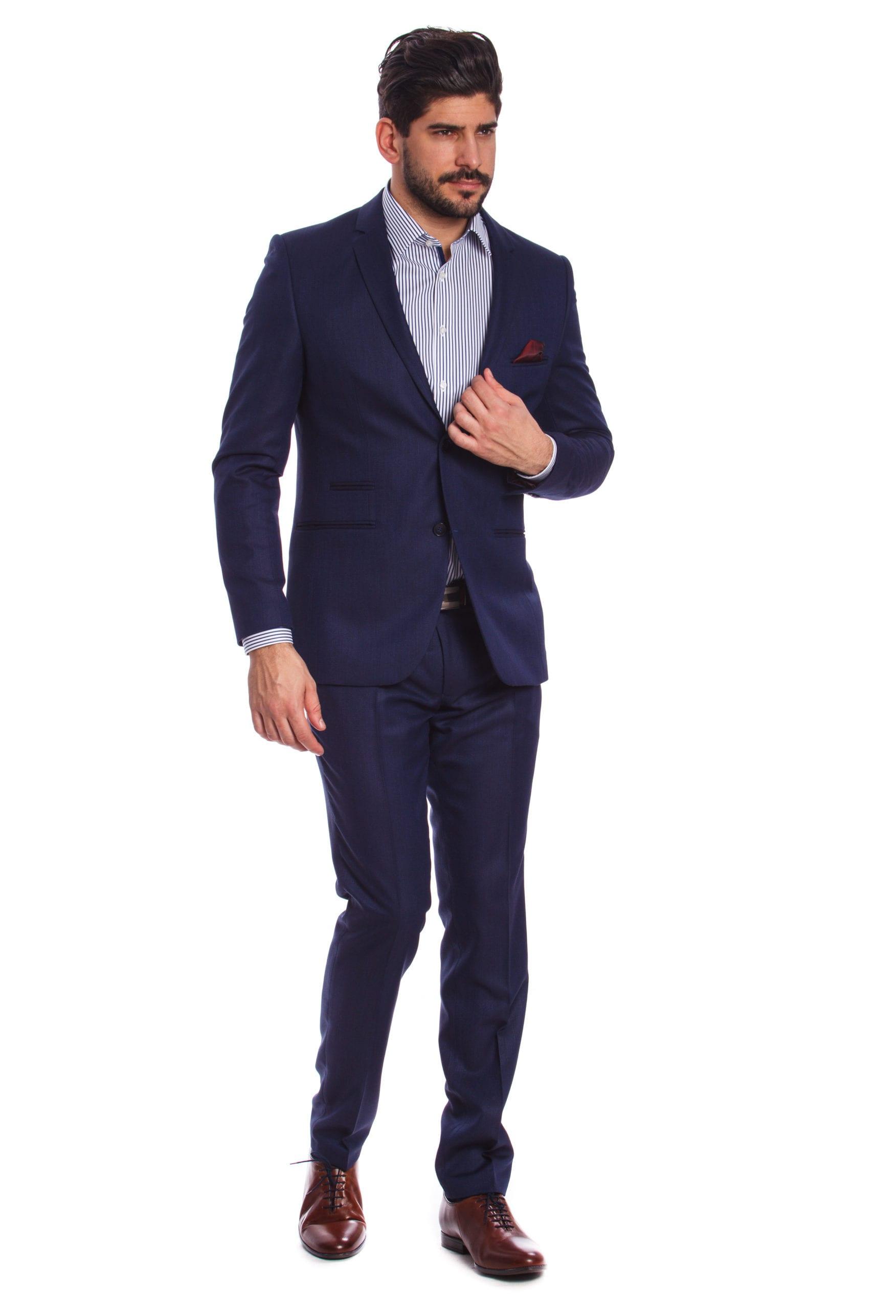 9b7d83c105 Matera Kék Slim Fit Öltöny - Elite Fashion Öltönyház