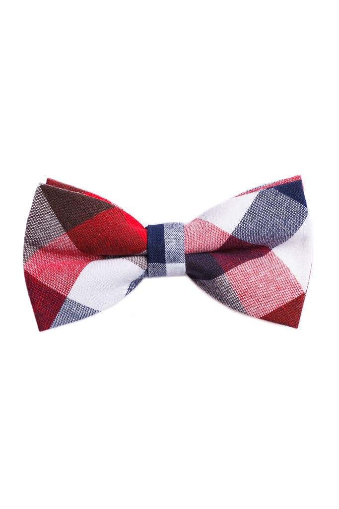 da457360c3 Ralph Redford Fehér-Piros Kockás Csokornyakkendő - Elite Fashion ...