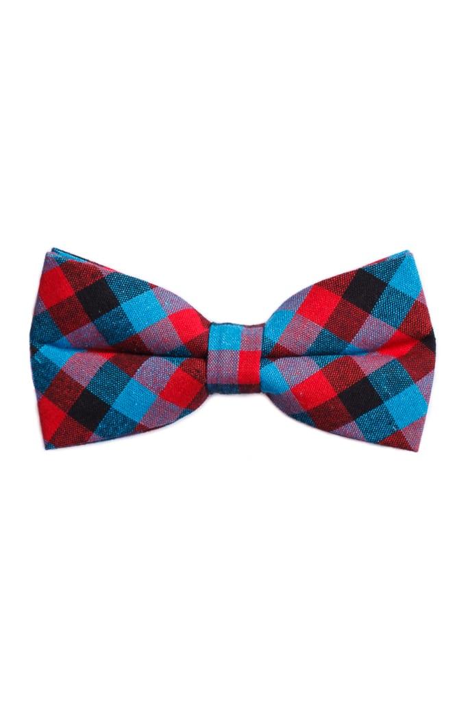 df10863023 Ralph Redford Kék-Piros Kockás Csokornyakkendő - Elite Fashion Öltönyház