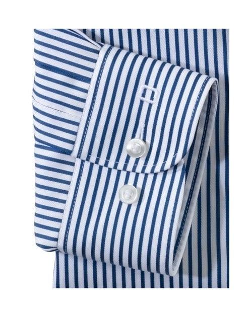 ae6329f486 OLYMP Level5 Body Fit Kék Fehér Csíkos Ing - Elite Fashion Öltönyház