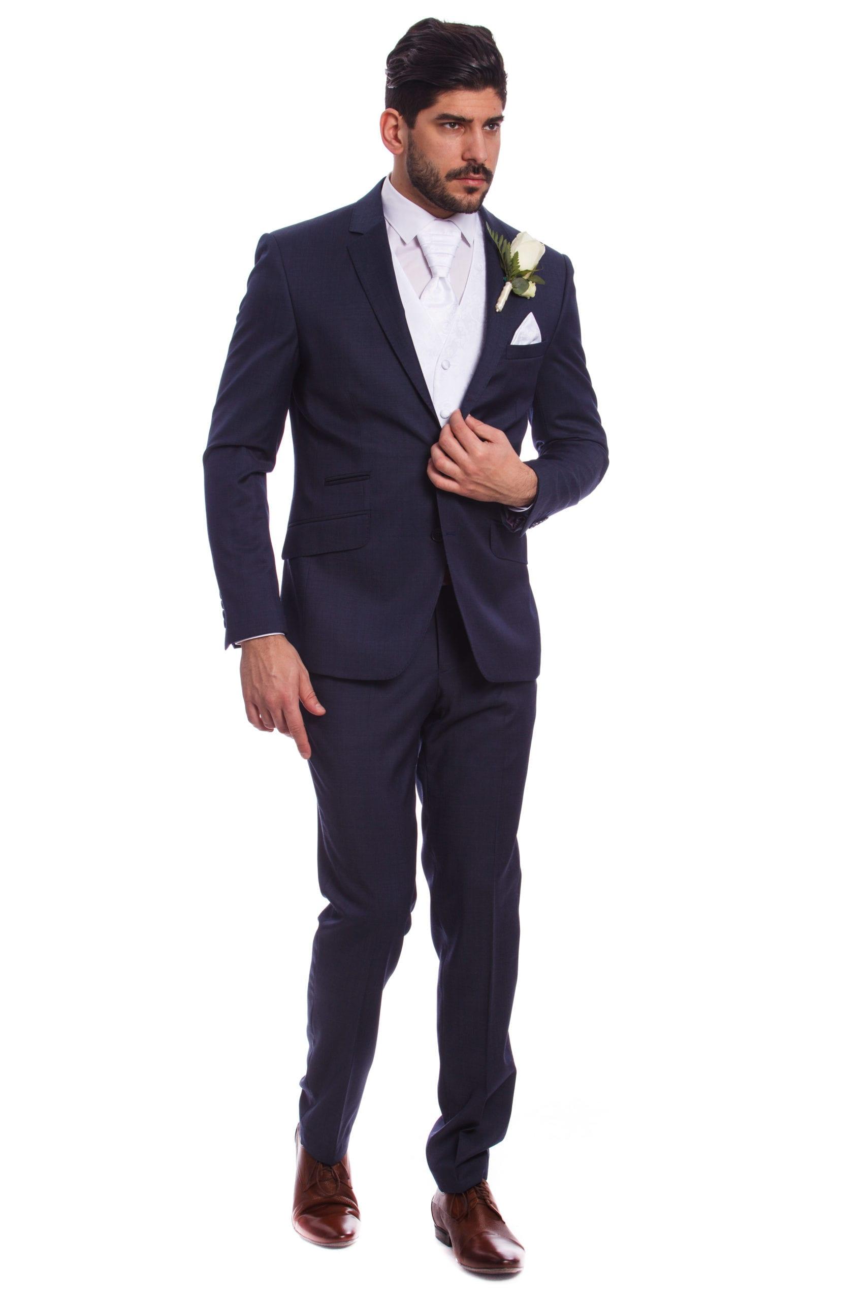 cec8deeb1e Fehér Mintás Esküvői Mellény Szett - Elite Fashion Öltönyház