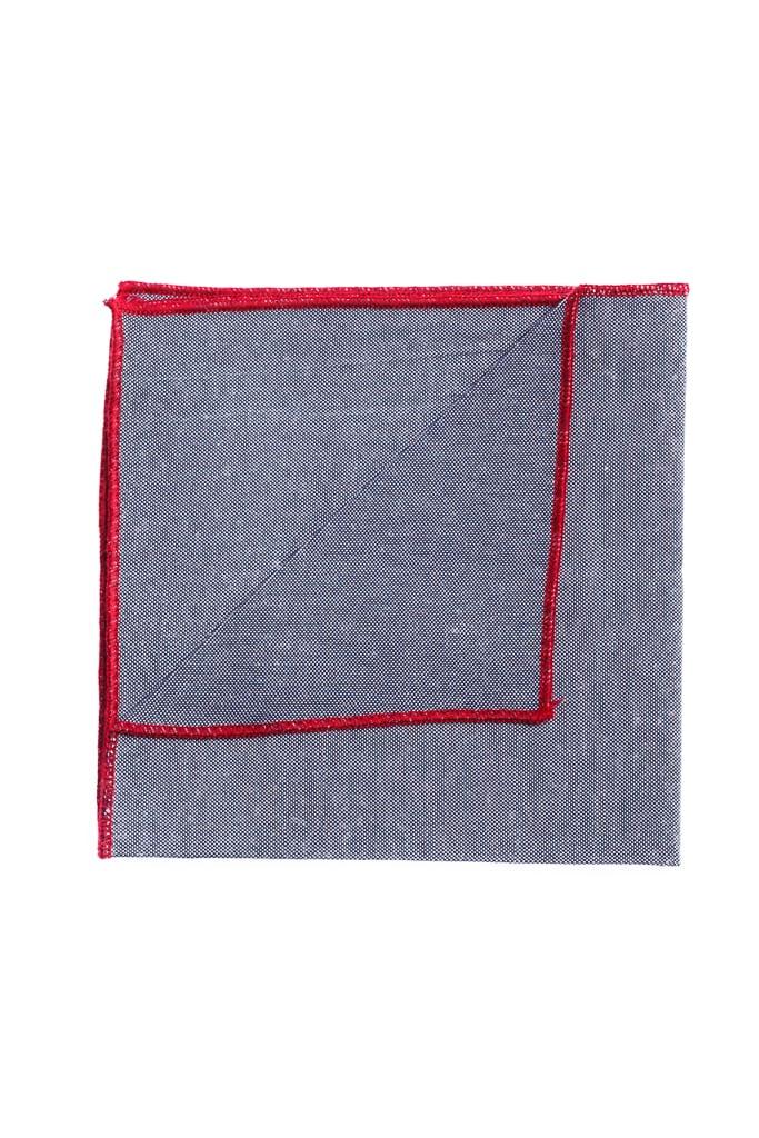 Ralph Redford Szürke-Bordó Díszzsebkendő