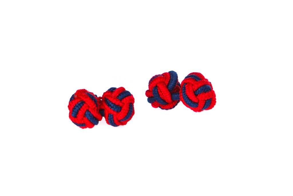 Lindenmann Piros-Kék Mandzsettagomb
