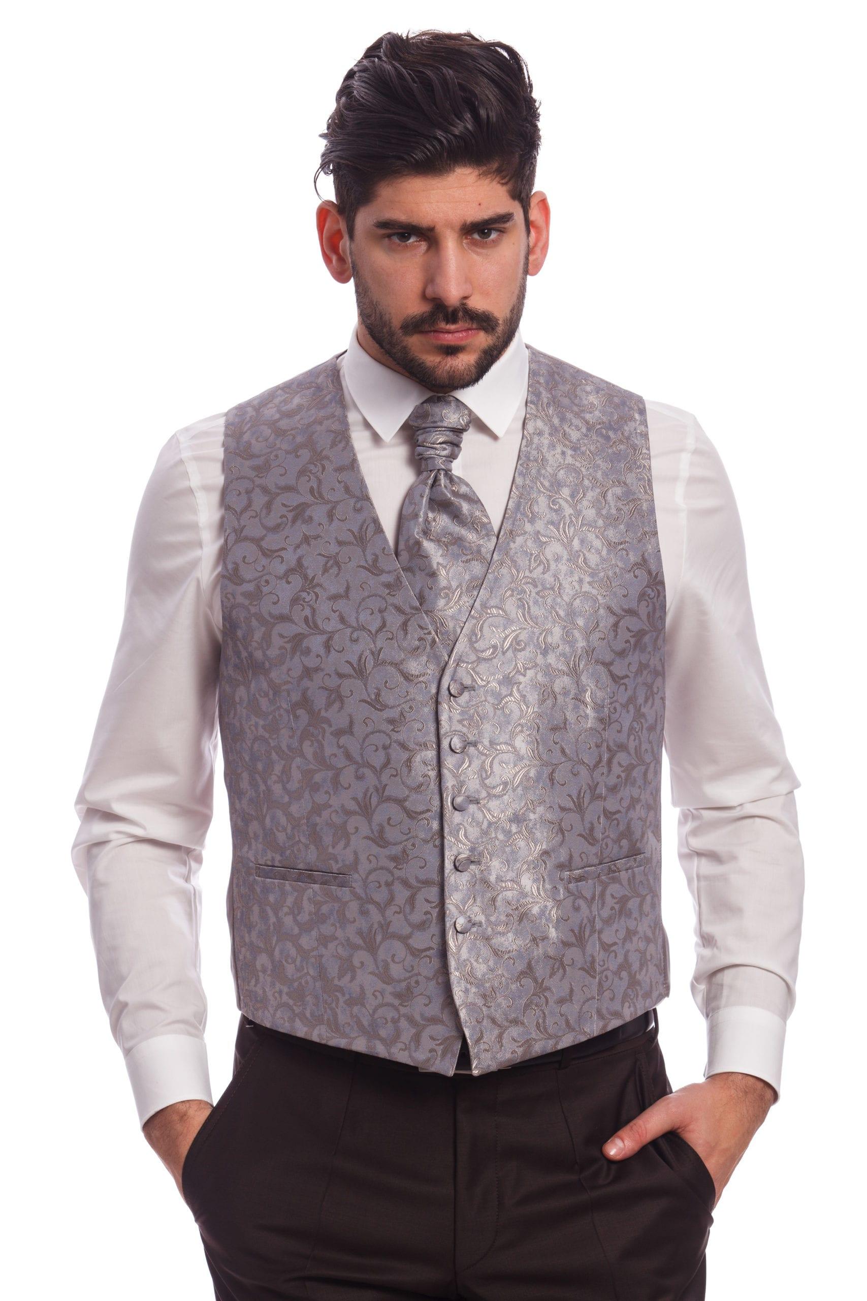 Wilvorst Szürke Mintás Esküvői Mellény - Elite Fashion Öltönyház 2a213619b9