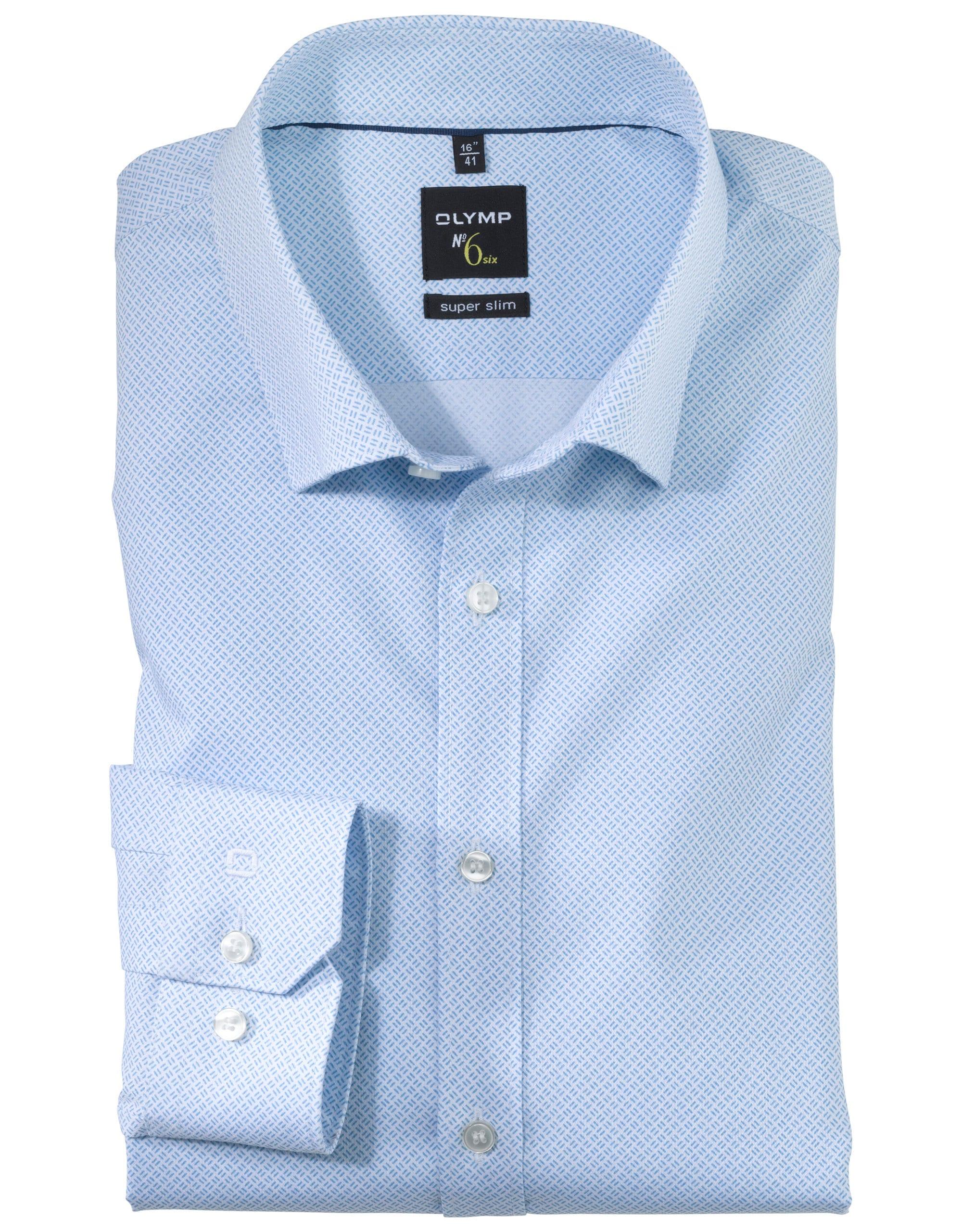 a74c375bc3 OLYMP No6 Super Slim Kék Apró Mintás Ing - Elite Fashion Öltönyház