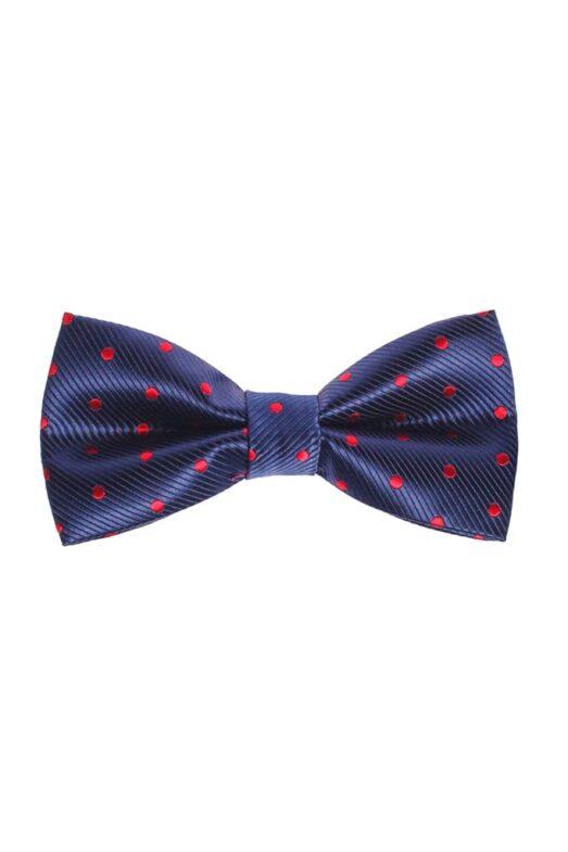 Ralph Redford Kék-Piros Pöttyös Csokornyakkendő