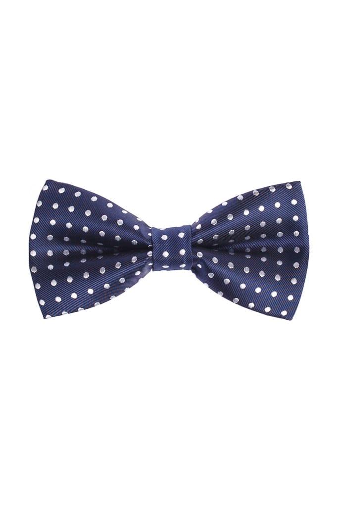 0dc3d6ef17 Ralph Redford Kék-Fehér Pöttyös Csokornyakkendő - Elite Fashion ...