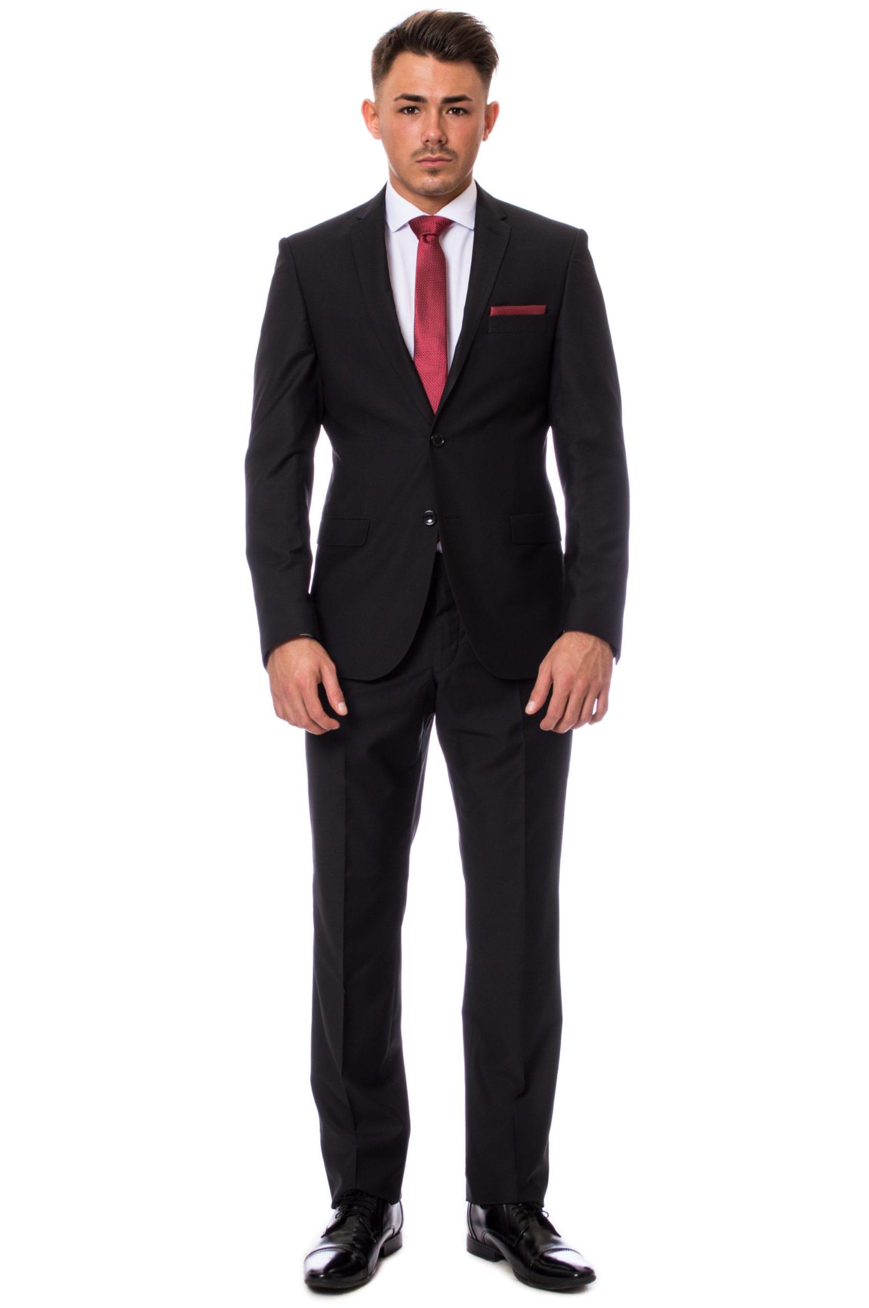 3d6d085b86 Fekete Slim Fit Öltöny - Elite Fashion Öltönyház