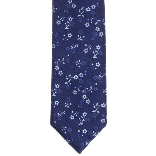 Kék virágos nyakkendő