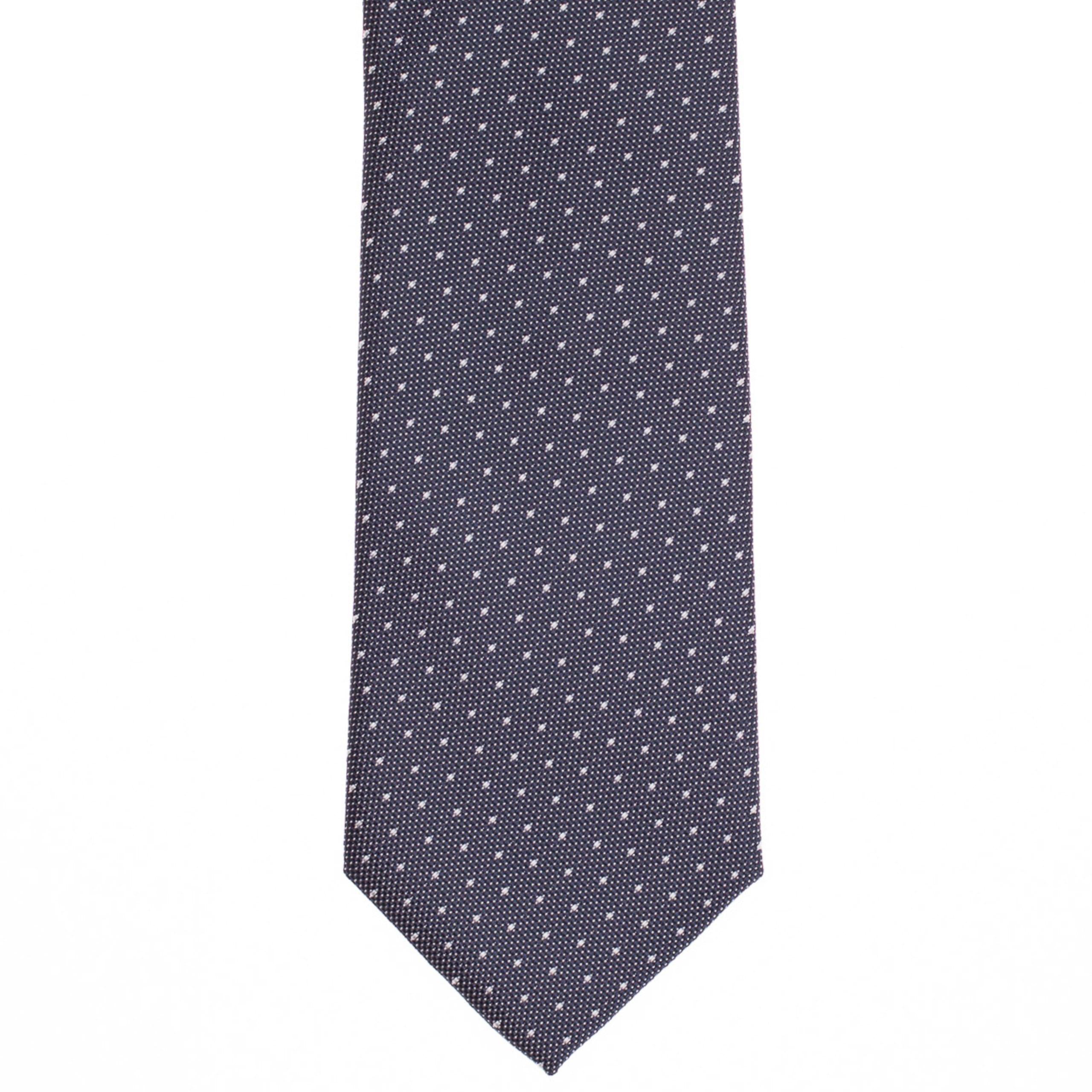 Sötétkszürke fehér pöttyös nyakkendő